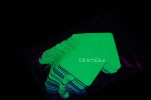 Glow in the Dark 3 inch Vinyl Arrow Stickers 25 Pack