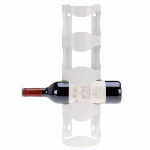 4 Wine Bottle Metal Rack Wall Mountable Storage Holder Shelf Organiser Stackable