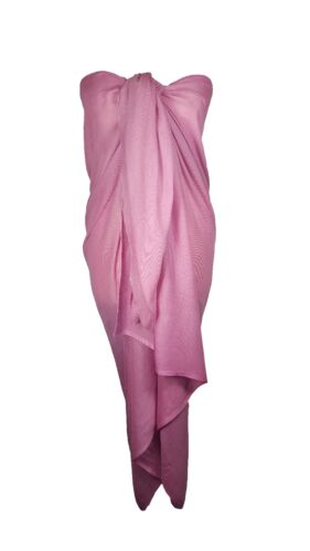 Ladies Large Plain Sarong Scarf Dress Wrap Cover Up Beachwear Pool wear Swimwear