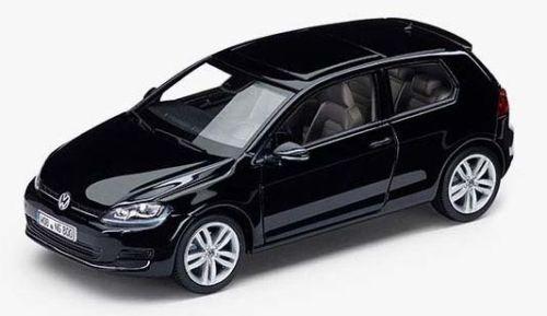 NEW GENUINE VW GOLF MK7 2 DOOR DEEP PEARL BLACK 1:43 SCALE DIECAST MODEL CAR
