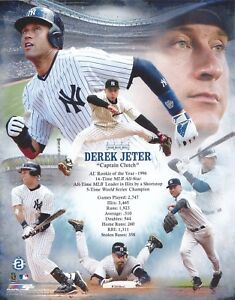 DEREK-JETER-CAPTAIN-CLUTCH-NEW-YORK-YANKEES-UNSIGNED-8x10-PHOTO
