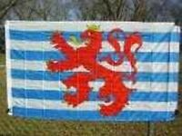 Luxembourg Red Lion Flag 3x5 Ft Coat Of Arms Blue Stripes Civil Air Ensign Ships