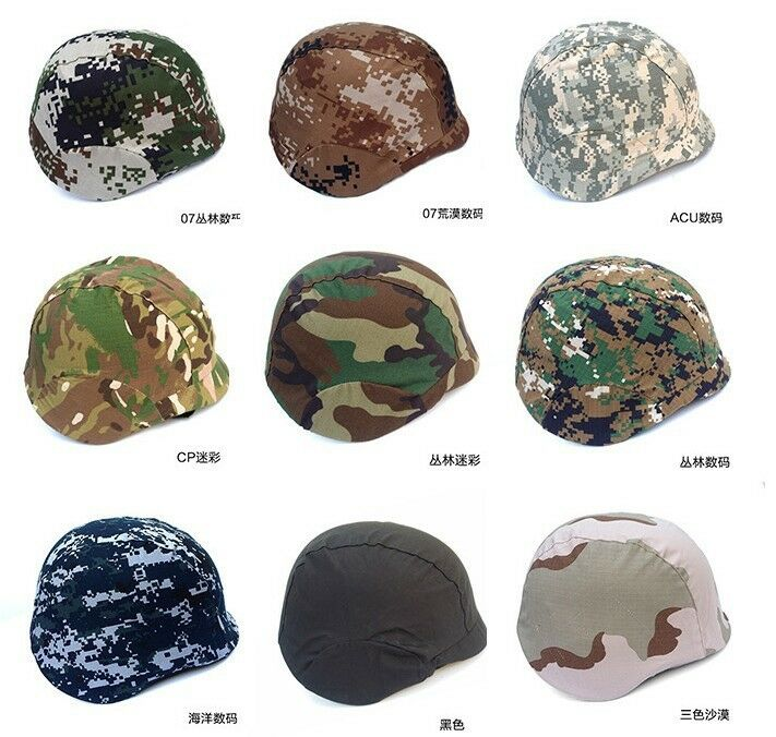 Two Point Suspension Tactical Helmet + Cover CS Sport Camo Predect M88 Headwear