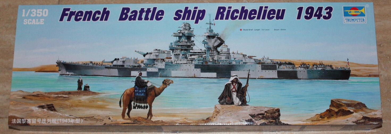 Trumpeter 05311 French Battleship Richelieu 1943 1 350 NEU OVP  | Flagship-Store