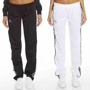 3ddb587f Details about Kappa Wastoria Snaps 222 Banda Women Slim Jogging Bottoms  Pants in White & Black