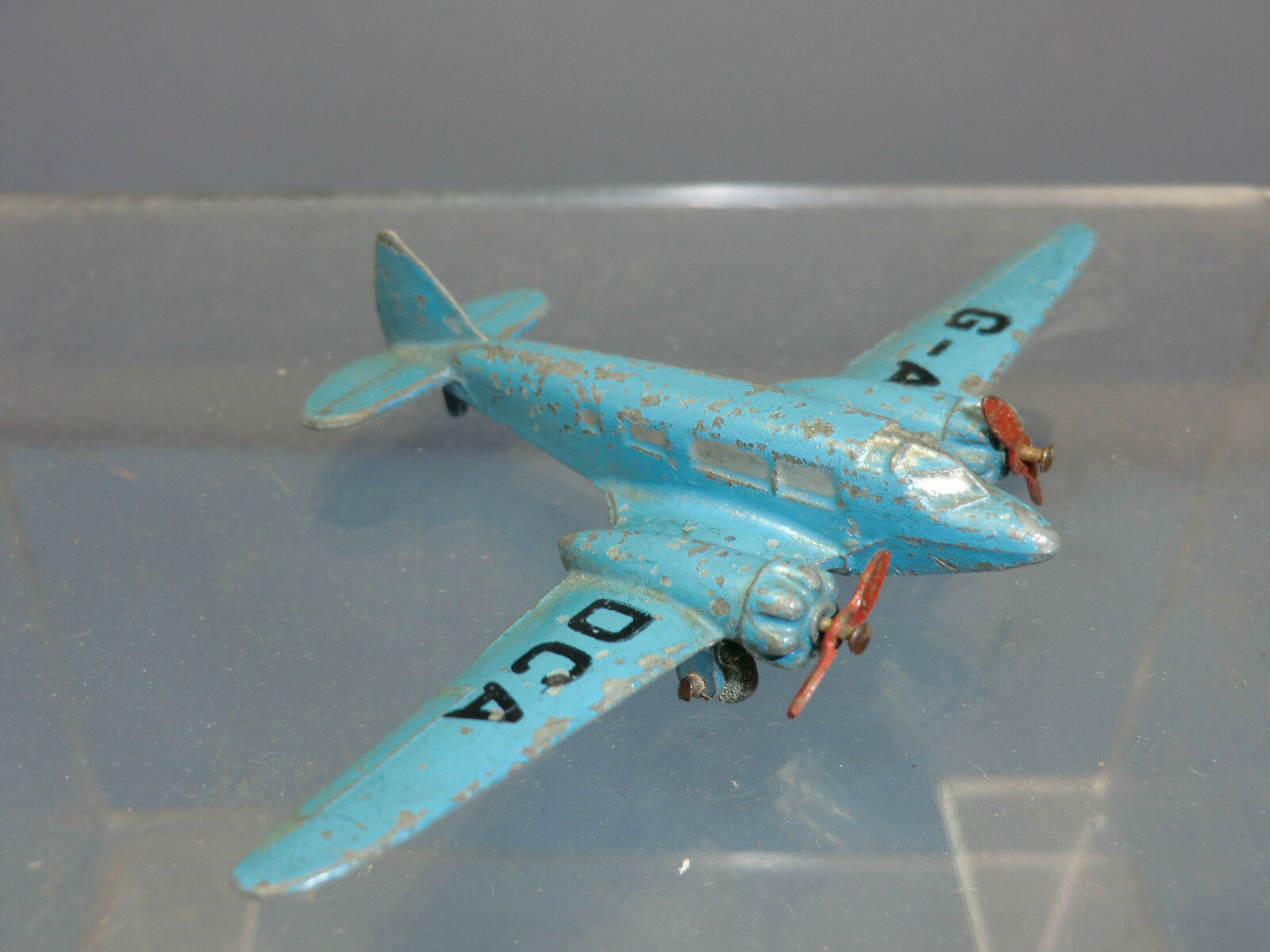 VINTAGE DINKY TOYS (PRE-WAR) MODEL No.62m  AIRSPEED ENVOY    G-ADCA   MONOPLANE