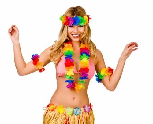 NUOVO Waikiki 4pc Set Hawaiana-Donna Hawaii Estate Costume Accessori