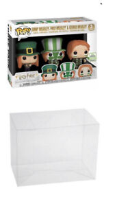 Plastic Pop Protector fits Harry Potter Quidditch 3-Pack Funko 0.50mm Thick!