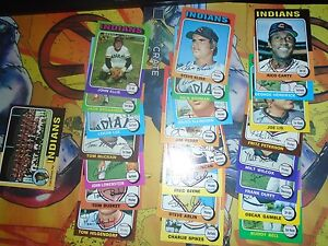 1974-1975-Topps-Baseball-Lot-49-Cards-Indians-Poor-Ex-Cond