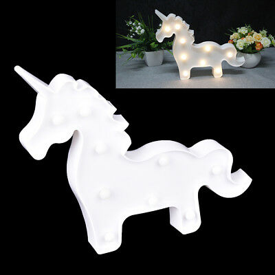 3D LED Unicorn Night Lamp light For Party Christmas Wedding Decoration Gifts