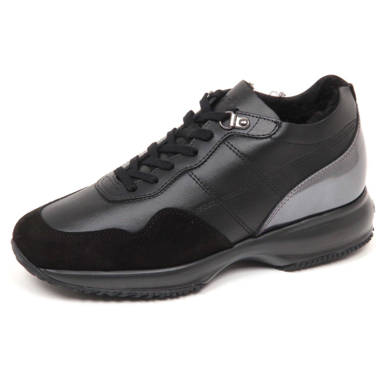 Casual salvaje Barato y cómodo E4818 sneaker donna nero HOGAN INTERACTIVE scarpe interno ecopelo shoe woman