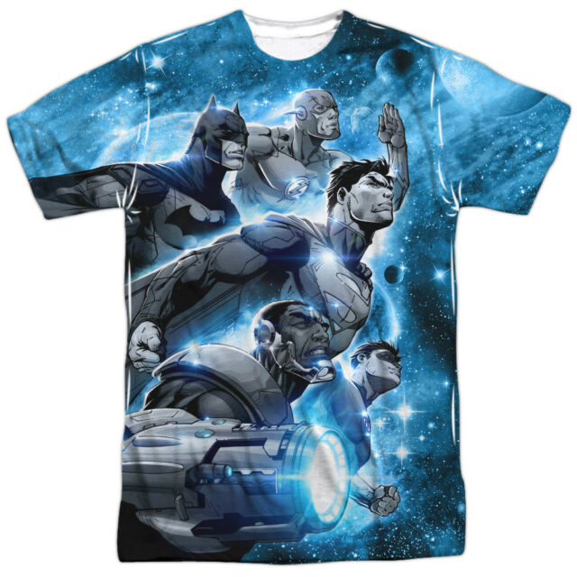 Dc Comics Stacked Justice Adult V-neck T-shirt