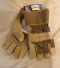 Size Xl Mens Carhartt Insulated Work System 5 Safety Cuff Gloves Beige
