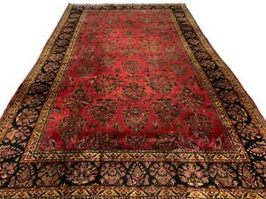 Antique-10X16-Persian-Area-Rug-circa-1900-Hand-Knotted-Wool-Carpet-9-9-x-16-4