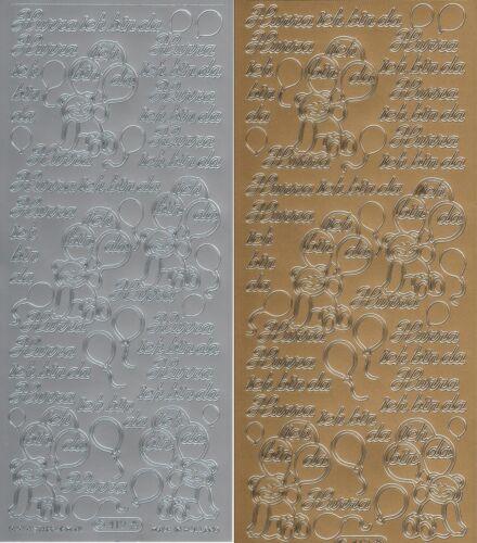 Karten Basteln Motive und Farben edle Sticker Baby Taufe Kommunion versch