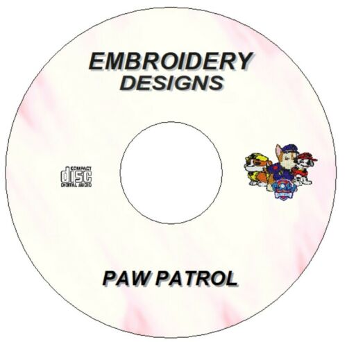 9 Paw Patrouille Embroidery Designs fichiers PES Jef Hus Télécharger CD Brother Janome
