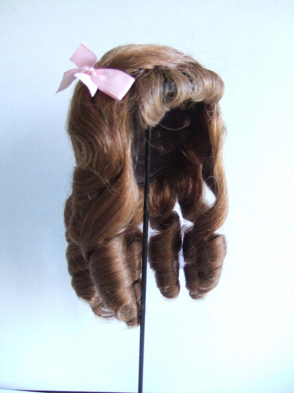 PERRUQUE T5 (25.5cm) 100% cheveux naturels pour POUPEE ANCIENNE -DOLL WIGS-Léa