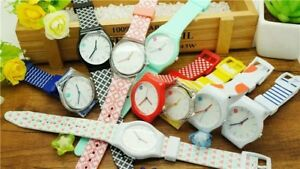 Details about Bulk Women Student girl's Gifts 10pcs Simple design Silicone  sport Watches SW1