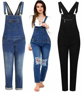 pretty and colorful select for original outlet for sale Details about Womens Buttoned Pocket Detail Mid Wash Denim Jeans Dungaree  Trousers UK 8-20