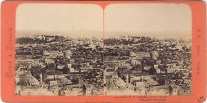 Costantinopoli Grecia & Turchia Foto B.K.Parigi Stereo Vintage Albumina Ca 1860