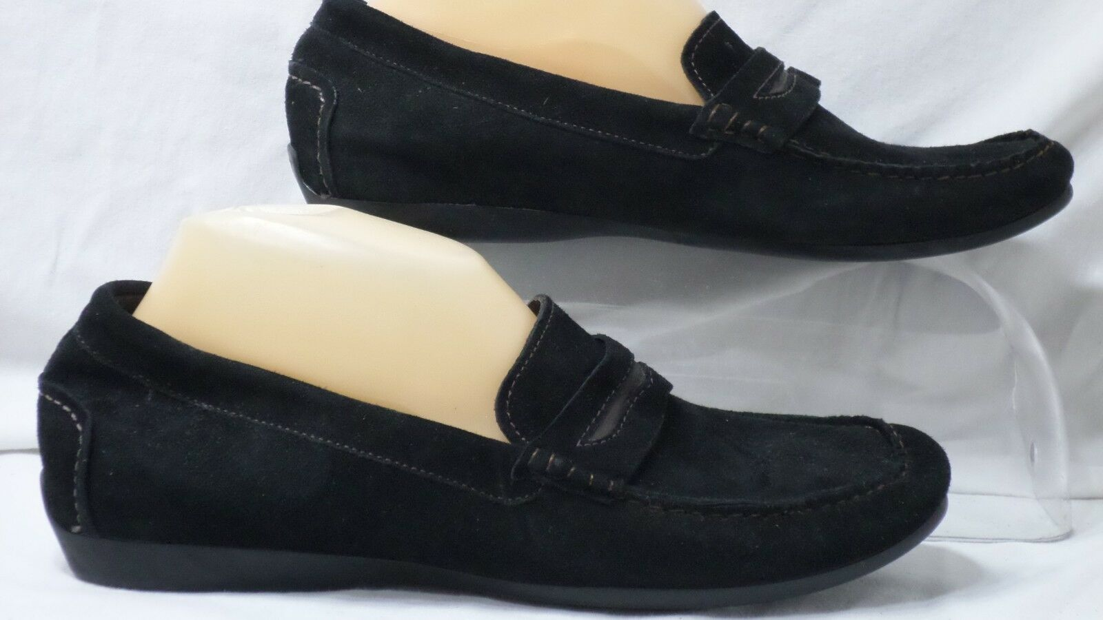 Munro American  Ramie  Black Kid Suede Casual Loafer Women Size 9.5 W