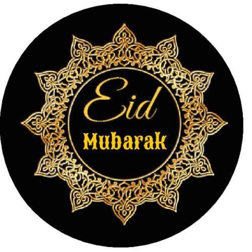 70 37m EID  GOLD FINISH ON BLACK CELEBRATION STICKER LABELS
