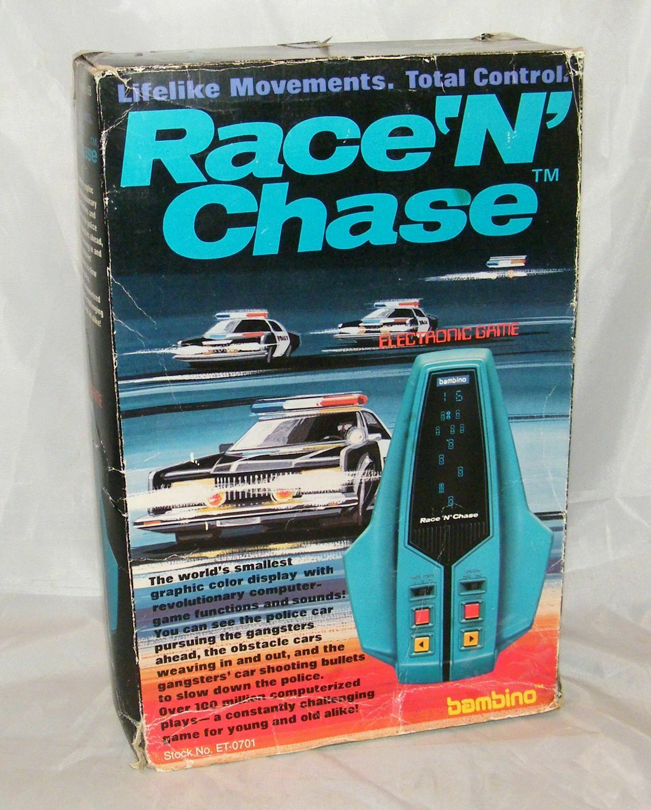 BAMBINO RACE 'N' CHASE - Electronic Game LSI   Tabletop 1982
