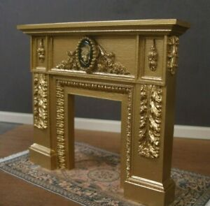 CARVED  FIREPLACE ~ 1:12  scale ~  MARIE ANTOINETTE ~ Dollhouse Mini ~ Room Box