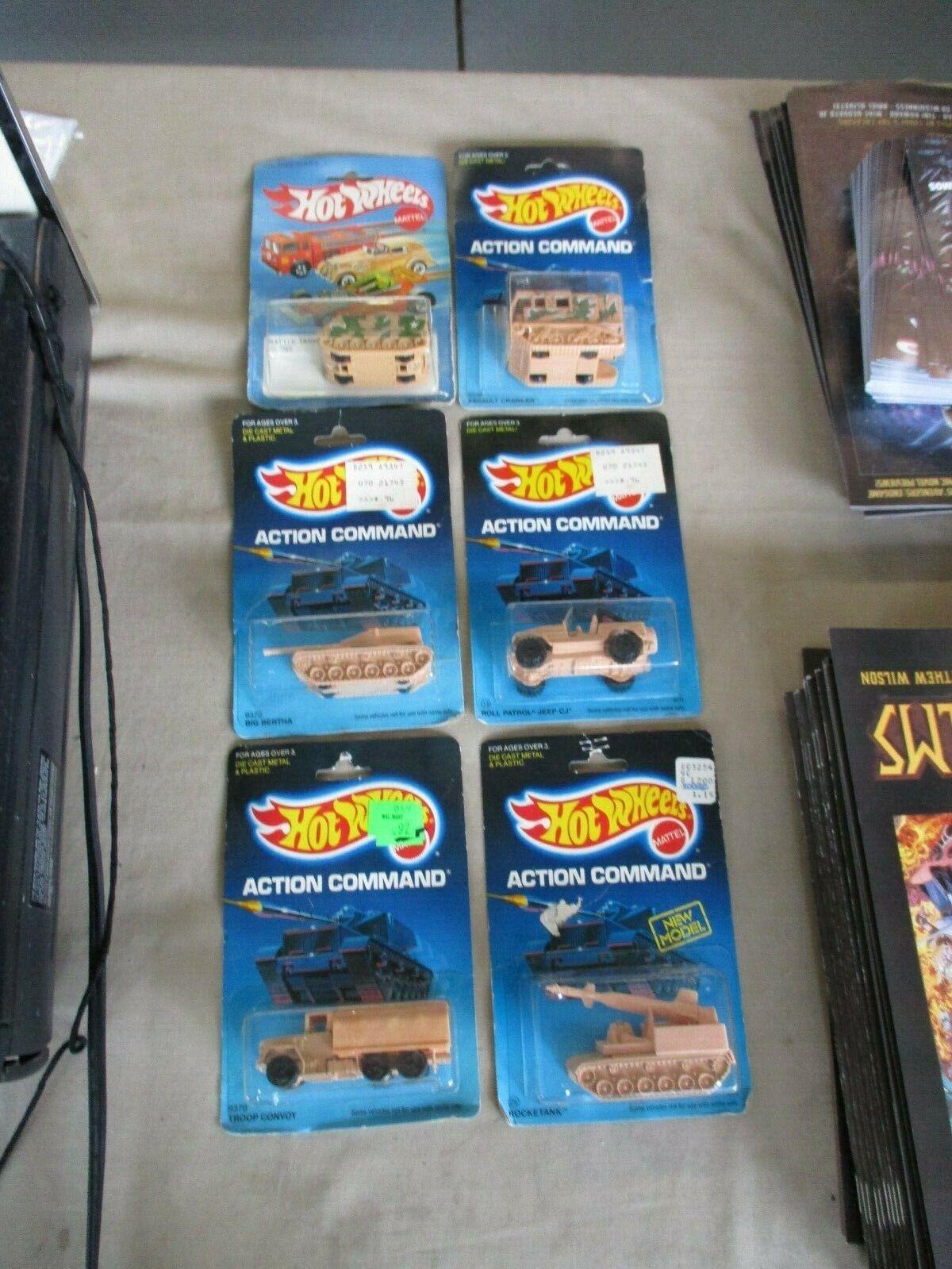 1984 & 1987 HOT WHEELS ACTION Commande Lot de 6 Neuf sous emballage