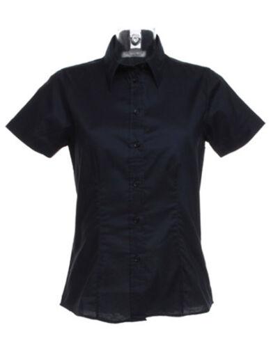 Damen Kurzarm Bluse Hemd in 7 Farben Gr.XS,S,M,L,XL,XXL,3XL K360