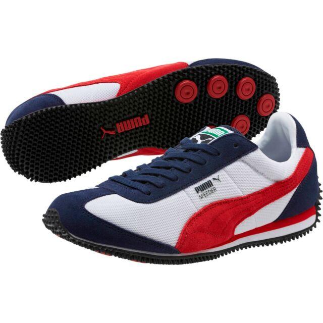 b3bbb61d59e8 PUMA Speeder Mesh Mens White Blue Mesh Athletic Training Shoes 8.5 ...
