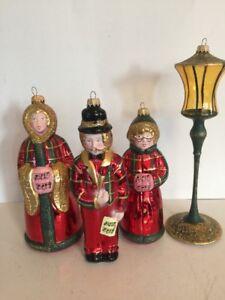 Vintage Lauscha Glas Creation Caroler Ornaments Germany Thuringer