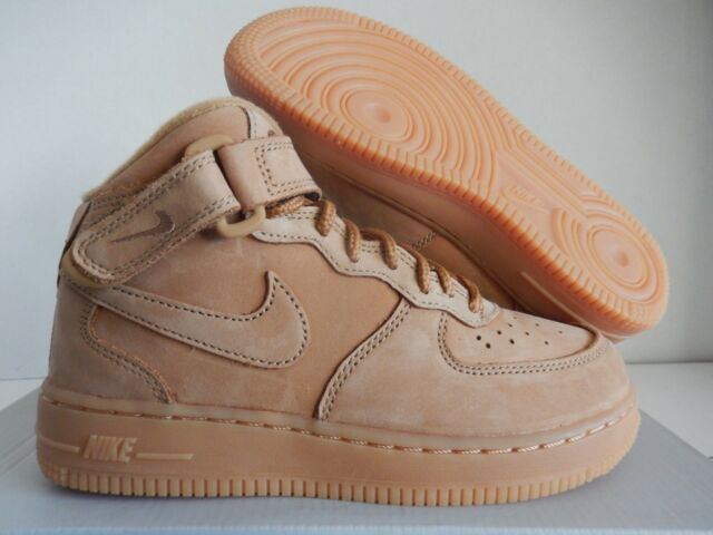 NIKE AIR FORCE 1 MID WB (PS) FLAX WHEAT OUTDOOR GREEN SZ 1Y [AH0756 203]