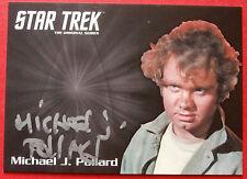 STAR TREK TOS 50th, MICHAEL J POLLARD, Jahn, VARIANT #B (SILVER) Autograph