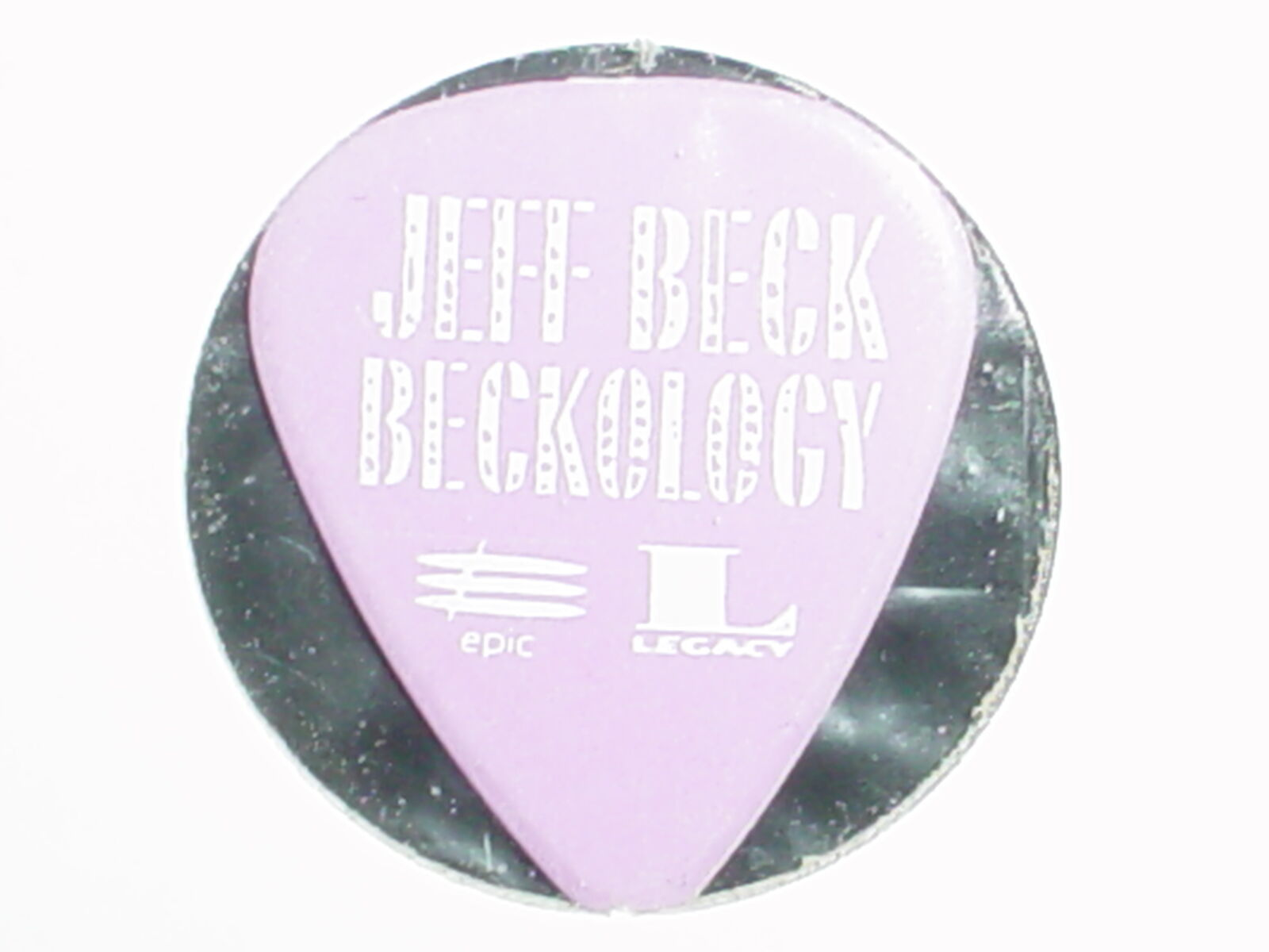 JEFF BECK Beckology Logo Legendarly Guitarist Old Promo RaRe 1991 GUITAR PICK