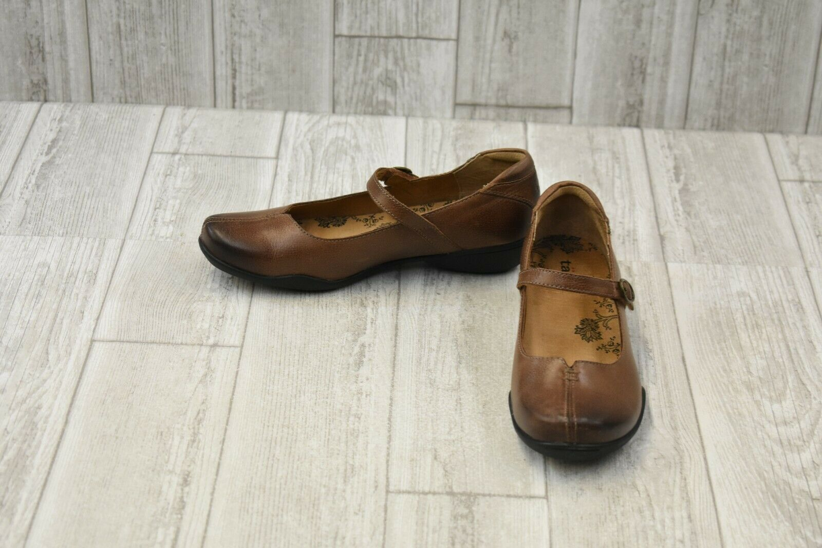 Taos Footwear Ta Dah Distressed Leather Mary Janes, Women's Size 7M, Whiskey