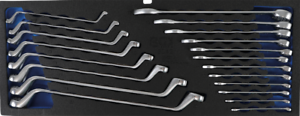 BGS Werkstattwagen Doppel-Ringschlüssel Ring-Maulschlüssel-Satz 20-tlg Schlüssel