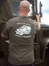 WW2 GMC CCKW 353 352 T SHIRT NEW TRIBUTE TO ICONIC WW11 TRUCK  ONE OFF RUN