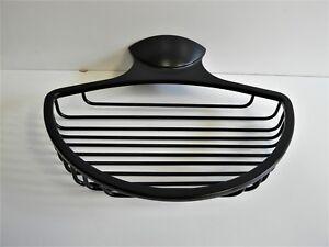 Cestino spugna nero opaco porta sapone mensola doccia cesto ebay