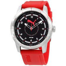 Puma Black Dial Silicone Strap Men's Watch PU104111002