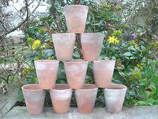 """10 Old Vintage  Terracotta Plant Pots 3.25"""" Diameter Auricula Pots 12"""
