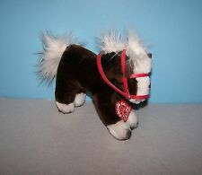 "Vintage 1982 Charm Co. 8"" Brown & White Horse Plush Stuffed Animal w/ Tag #7000"