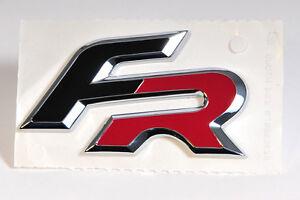 "SEAT Emblem/Schriftzug /Logo ""FR"" in schwarz/chrom/rot"