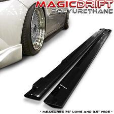 12-15 Honda Civic 4dr SEDAN Flat Add-On Side Skirts Bottomline Under Splitters