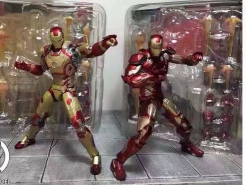 Iron Man MK43 Red /& MK42 Gold Action Figures New W// Box /&Sofa Collectible Toys