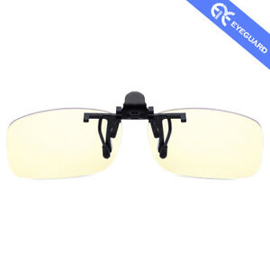 5c778a0a6a2 Clip on Lens Anti Block Blue Light Cover Glasses Unisex Eyes Care ...