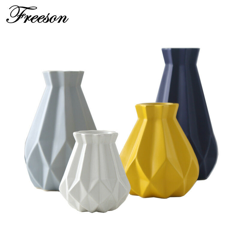 Porcelain Vase Modern Fashion Ceramic Flower Vase Room Decoration Matt Diamond
