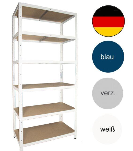 shelfplaza® HOME Steckregal 180x80x50cm Garage Hobby Lager Keller Werkstatt