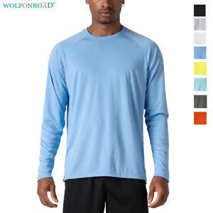 Men-039-s-UV-Sun-Protection-Shirts-Long-Sleeve-Work-Fishing-Shirts-Summer-Sports-Tee