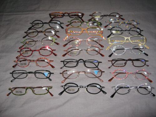 Swarovski Crystal Jeweled Reading Glasses Bling +1.75 Wire Frames NEW!